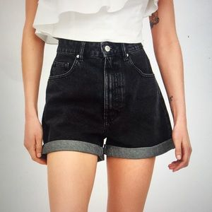 ZARA Authentic Denim Mom Fit Shorts